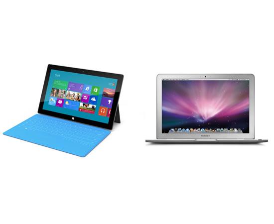 Surface pro 2と11インチMacbook Airを比較してみた