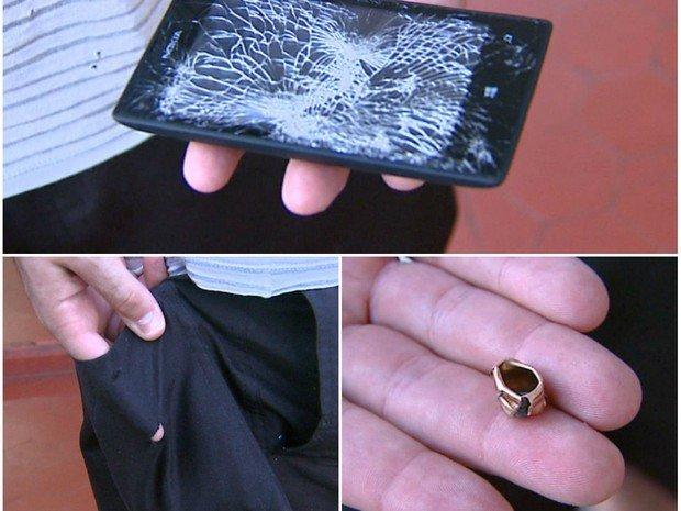 ホンマでっか!?NokiaのスマホLumia 520が防弾チョッキ代わりになり銃弾を止めて命がたすかる