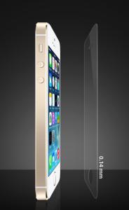 これは薄い!史上最薄 厚さがたった0.14mmのiPhone用強化ガラスなのに表面硬度10H、光透過率は98%
