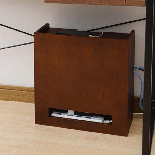 これでデスク周りはすっきり!ルーターも収納できるケーブルボックス