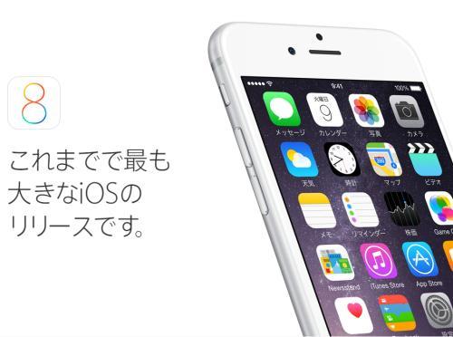 iOS8.0.1にバグがあるようです、アップデートは控えましょう。